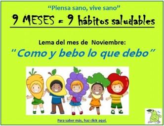 Lema Hábitos Saludables Noviembre